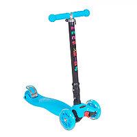 Самокат трехколесный TooCool Mars Kids Maxi складной голубой, фото 1