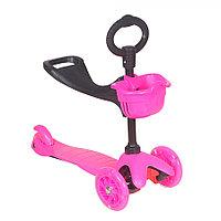 Самокат трехколесный TooCool Mars Kids 3 в 1 розовый, фото 1