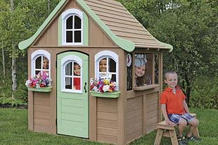 Деревянные игровые домики для детей