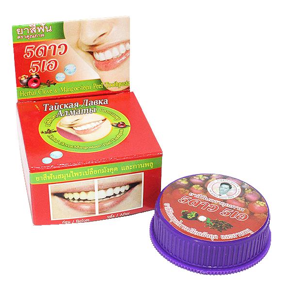 Зубная отбеливающая паста с Мангостином и Гвоздикой