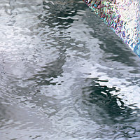 Clear Waterglass, Iridescent