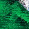 Dark Green Waterglass, Iridescent