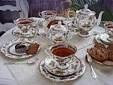Авторский чайный сервиз Фантастические бабочки. Императорский фарфор., фото 2