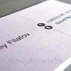 """Печать визиток на бумаге """"лен"""""""