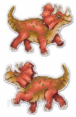 """Набор для вышивания """"Динозавры. Трицератопс"""""""