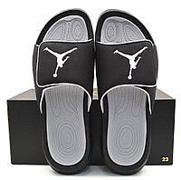 Шлепанцы мужские Nike Air Jordan Hydro 6 black/grey
