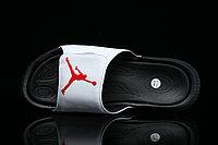 Шлепанцы мужские Nike Air Jordan Hydro 6 White Black Gym Red