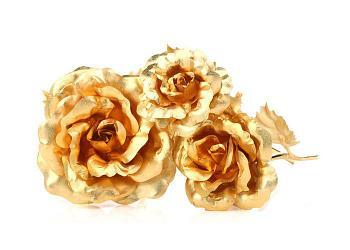 Букет из золотых роз (3 шт)