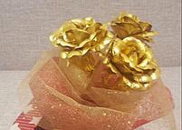 Букет из золотых роз (3 шт), фото 2