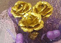 Букет из золотых роз (3 шт), фото 3