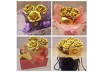 Букет из золотых роз (3 шт), фото 4