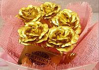 Букет из золотых роз (5 шт), фото 2