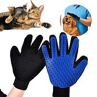 Перчатка для вычесывания шерсти домашних животных True Touch, фото 2