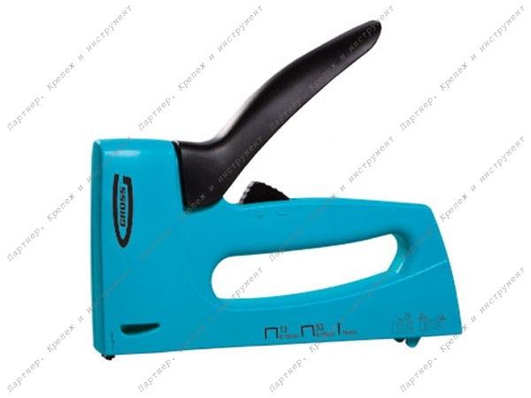 (41003) Степлер мебельный, пластиковый корпус,регулировка удара, тип скобы 13, 53, 300, 6-16мм// GROSS
