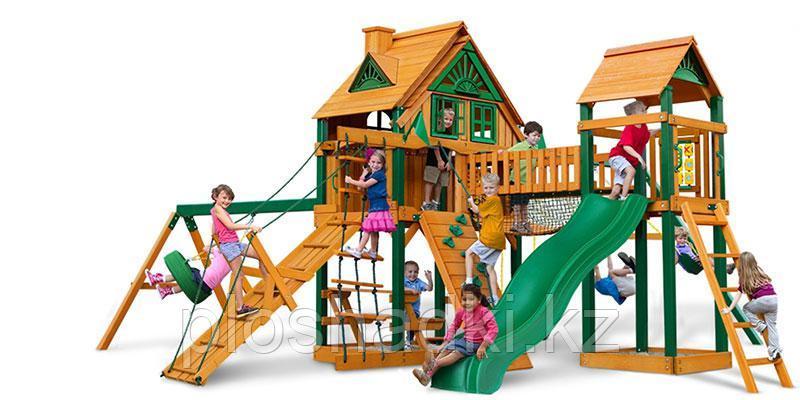Детская площадка «Гульдер», стол со скамейками, песочница, трапеция с ручками, горки