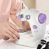 Портативная мини швейная машинка. Mini sewing machine., фото 6