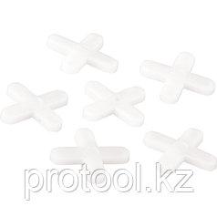Крестики, 4,0 мм, для кладки плитки, 100 шт., Россия// СИБРТЕХ