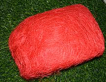 Волокно для творчества Сизаль красный 100 гр