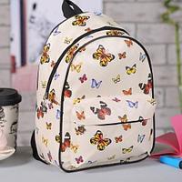 Рюкзак детский Бабочки 21х15х28 см отдел на молнии 3 накладных кармана