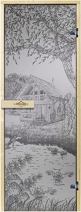 Дверь для сауны «Дом у озера», фото 2