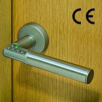 Дверная ручка с кодом MBRIGHTLODIS с подсветкой, матовый хром
