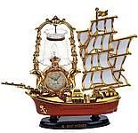 """Часы-светильник с будильником """"Корабль с коричневой кормой"""", от 220v, фото 2"""
