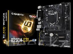 Сист. плата Gigabyte GA-B250M-D3V, B250, S1151, 2xDIMM DDR4