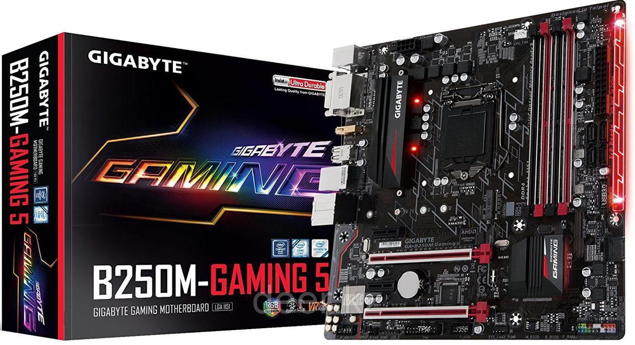 Сист. плата Gigabyte B250M-Gaming 3, B250, S1151, 4xDDR4 DIMM