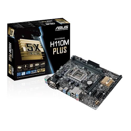 Сист. плата Asus H110M-PLUS, H110, S1151, 2xDIMM DDR4