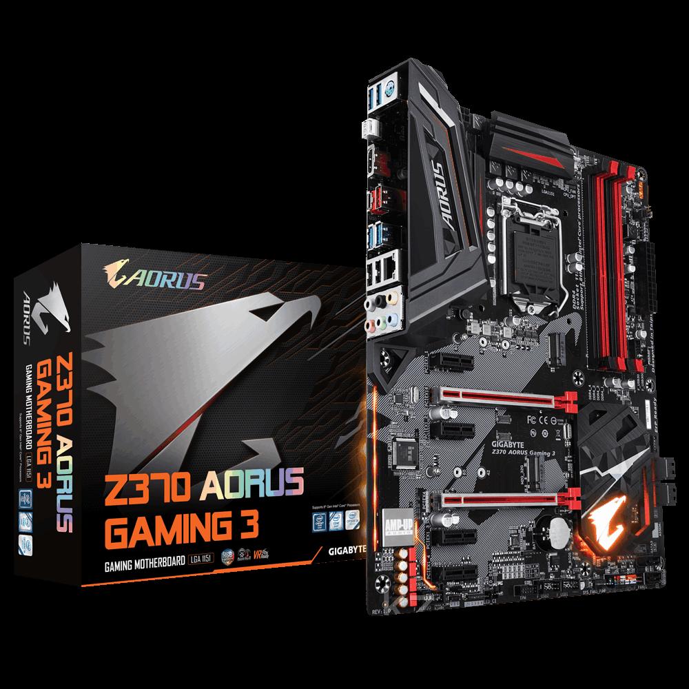 Сист. плата Gigabyte Z370 AORUS Gaming 3, Z370, S1151, 4xDDR4 DIMM