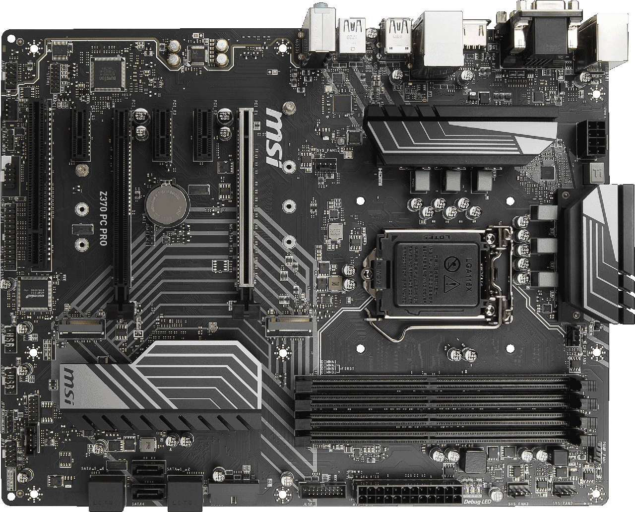 Сист. плата MSI Z370 PC PRO, Z370, 4xDIMM DDR4