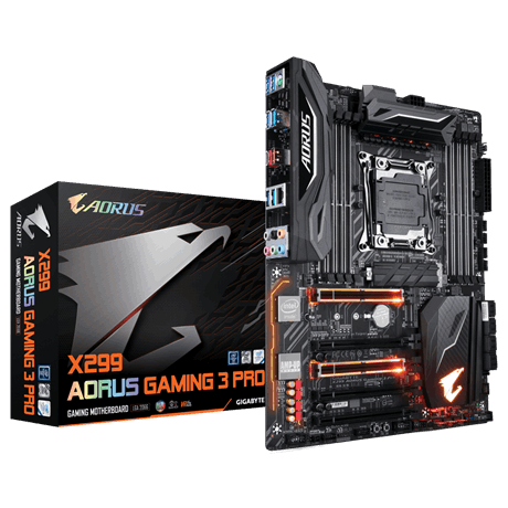Сист. плата Gigabyte X299 AORUS Gaming 3 Pro, X299, S2066, 8xDIMM DDR4