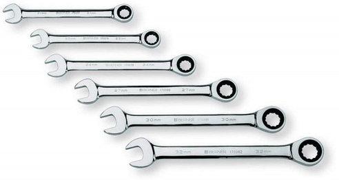 Ключи рожково-накидные трещеточные