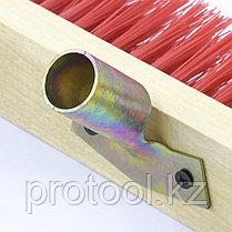 Щетка строительная 400 мм, 5 рядов, жесткая щетина, железная тулейка, без черенка// СИБРТЕХ, фото 3