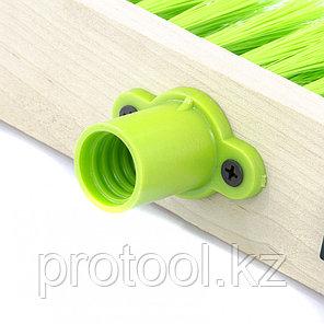 Щетка деревянная для подметания пола,280 мм,5 рядов, прямая тулейка с резьбой, без черенка// СИБРТЕХ, фото 2