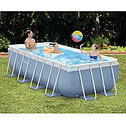Каркасный бассейн 400x200x100 см, фильтр-насос + лестница, Intex 28316/26788