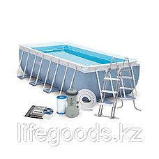 Каркасный бассейн 400x200x100 см, фильтр-насос + лестница, Intex 28316/26788, фото 3