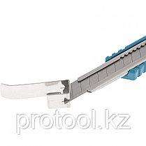 Нож 130 мм, метал. корпус, выдв.сегм.лезвие 9 мм (SK-5), метал. направ-щая, клипса для ремня// GROSS, фото 3