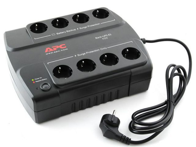 UPS APC/BE400-RS/Back/Line Interactiv/Schuko/400 VА/240 W