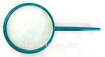 Лупа с ручкой 2,25 кратная пластмассовая зеленая 90 мм