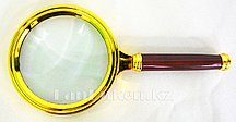Лупа с ручкой 3,5 кратная разборная золотая 80 мм
