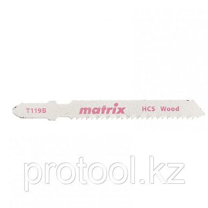 Полотна для электролобзика  по дереву, 3 шт.T119B, 50 x 2 мм, HCS // Matrix, фото 2