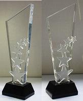 Хрустальная награда с гравировкой, фото 1