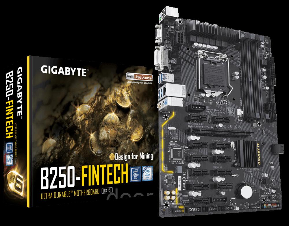 Материнская плата Intel 1151 B250 GA-B250-FinTech