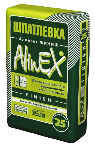 ALINEX- шпатлевка клеевая Финиш (FINISH)