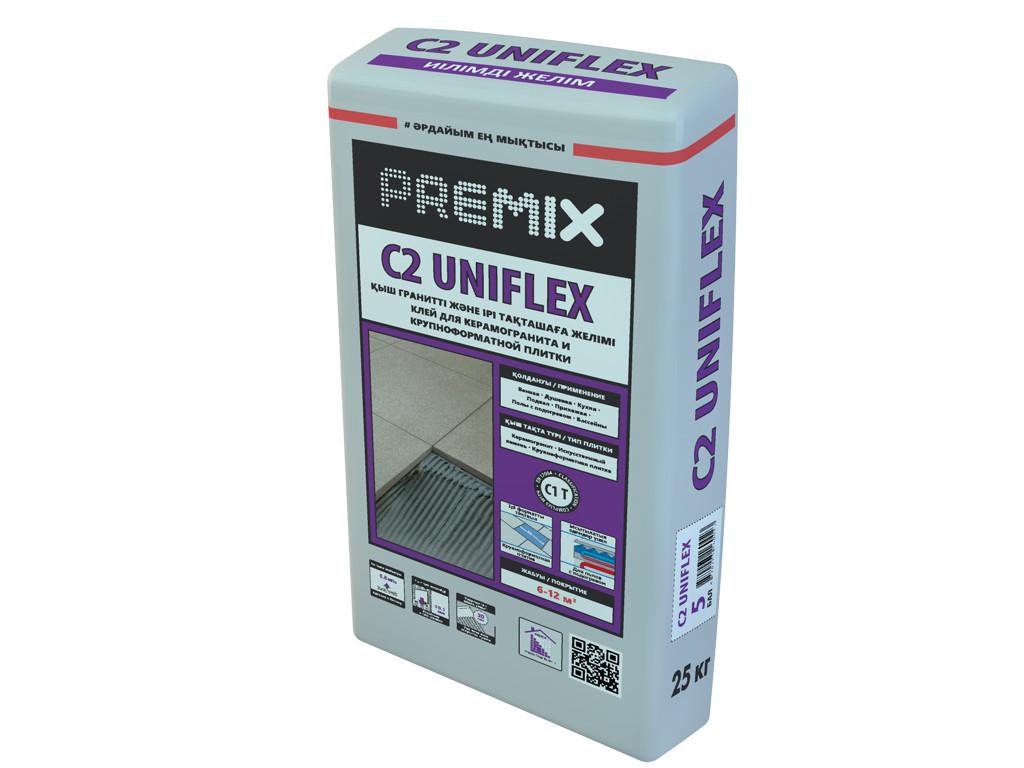 Premix C2 Uniflex Клей для керамогранита, камня и крупноформатной плитки