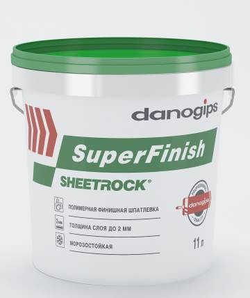 Унив. гот. шпатлевка SHEETROCK SuperFinish (СуперФиниш) 11Л