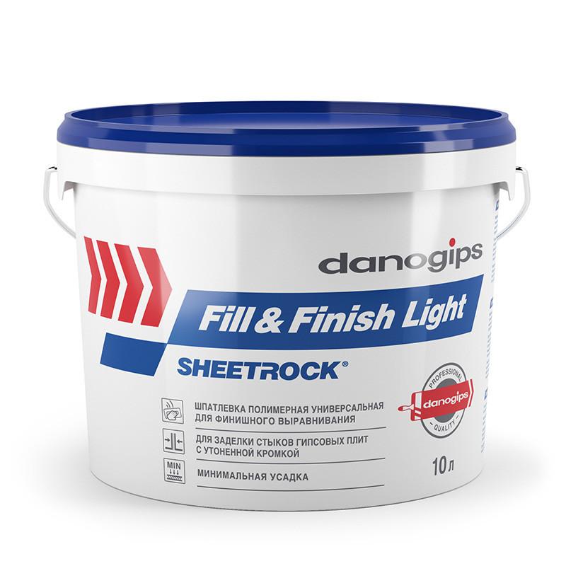 Унив. гот. шпатлевка SHEETROCK Fill&Finish Light 10л