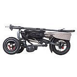 """Трехколесный велосипед QPLAY TORQUOISE надувные колеса 10""""/8"""", фото 3"""