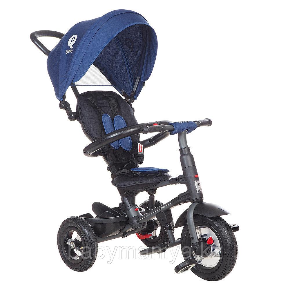 """Трехколесный велосипед QPLAY TORQUOISE надувные колеса 10""""/8"""""""